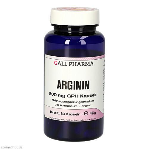 Arginin 500mg GPH Kapseln, 80 ST, Hecht-Pharma GmbH