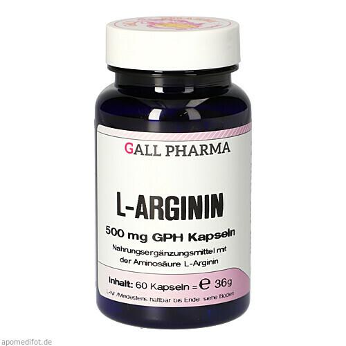 L-Arginin 500mg GPH Kapseln, 60 ST, Hecht-Pharma GmbH