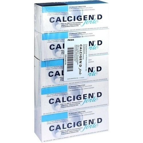 Calcigen D forte 1000mg/880I.E. Brausetabletten, 50 ST, MEDA Pharma GmbH & Co.KG