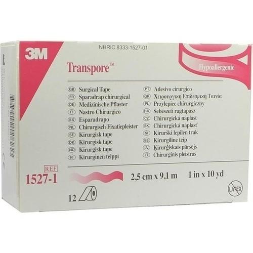 TRANSPORE 9.10MX2.50CM, 12 ST, 3M Medica Zweigniederlassung der 3M Deutschland GmbH