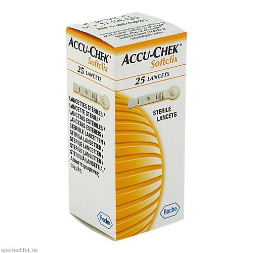 ACCU-CHEK Softclix Lancet, 25 ST, Roche Diabetes Care Deutschland GmbH