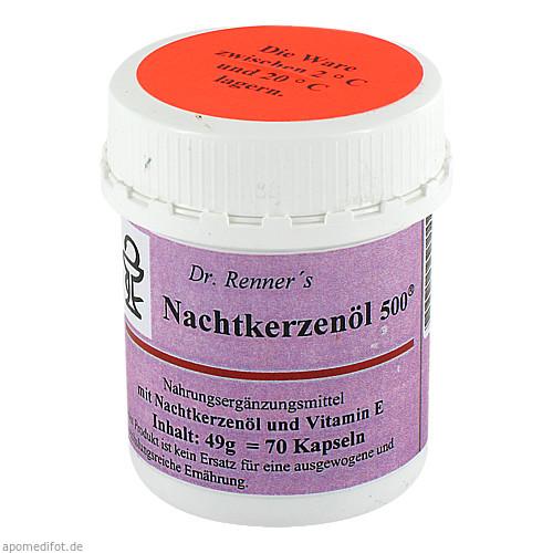 Nachtkerzenöl 500mg Dr. Renner, 70 ST, Safromed Ohg
