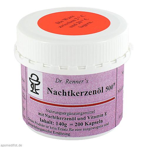 Nachtkerzenöl 500mg Dr Renner, 200 ST, Safromed Ohg