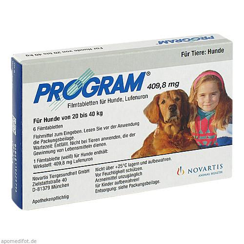 PROGRAM 409,8 mg 20-40 kg Tabl.f.Hunde, 6 ST, Elanco Deutschland GmbH