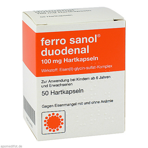 FERRO SANOL DUODENAL magens.res.Pellets in Kapseln, 50 ST, UCB Pharma GmbH