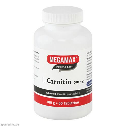 MEGAMAX L-Carnitin 1000mg, 60 ST, Megamax B.V.