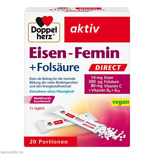 Doppelherz Eisen-Femin direct, 20 ST, Queisser Pharma GmbH & Co. KG
