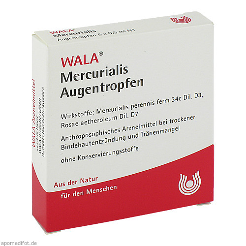 Mercurialis Augentropfen, 5X0.5 ML, Wala Heilmittel GmbH
