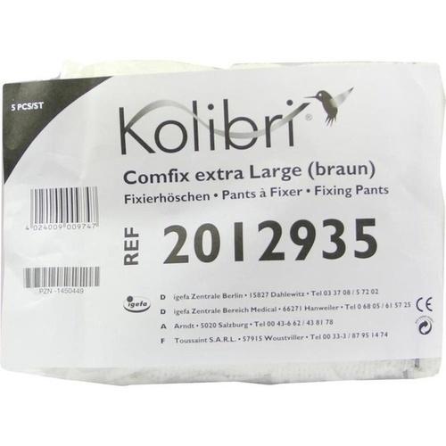 Kolibri comfix extra large/braun Fixierhose, 5 ST, Igefa Handelsgesellschaft Mbh&Co. KG