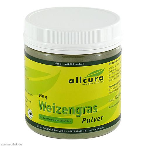 WEIZENGRAS PULVER kbA, 150 G, allcura Naturheilmittel GmbH
