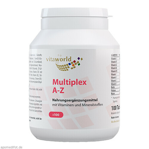 Multiplex Multivitamin A-Z, 100 ST, Vita World GmbH
