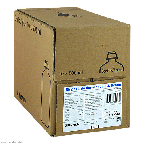 Ringer-Infusionslösung B.Braun Ecoflac Plus, 10X500 ML, B. Braun Melsungen AG