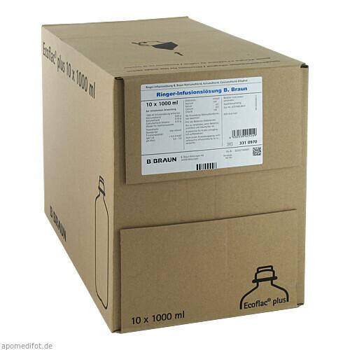 Ringer-Infusionslösung B.Braun Ecoflac Plus, 10X1000 ML, B. Braun Melsungen AG