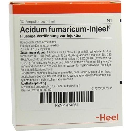 ACIDUM FUMARICUM INJ, 10 ST, Biologische Heilmittel Heel GmbH