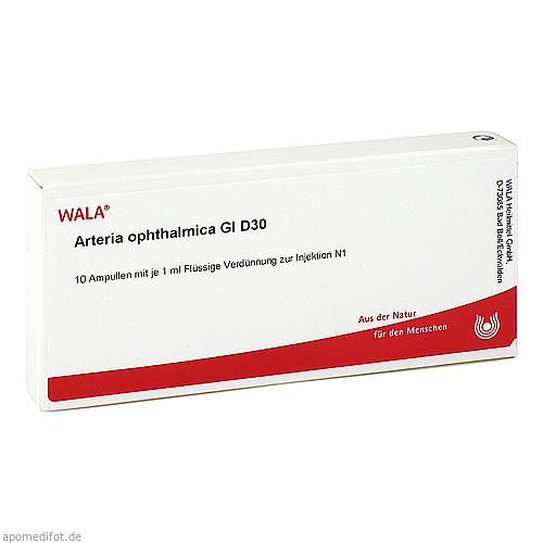 Arteria ophthalmica Gl D30, 10X1 ML, Wala Heilmittel GmbH