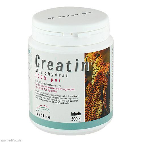 Creatin Monohydrat 100% PUR, 500 G, Endima Vertriebsgesellschaft mbH