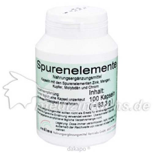 Spurenelemente, 100 ST, Endima Vertriebsgesellschaft mbH
