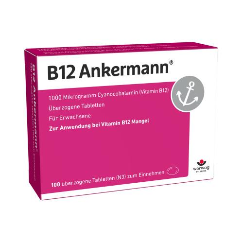 B12 ANKERMANN überzogene Tabletten, 100 ST, Wörwag Pharma GmbH & Co. KG