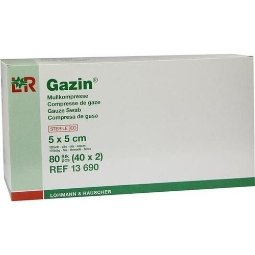 GAZIN Mullkompresse 5x5cm 12fach steril, 40X2 ST, Lohmann & Rauscher GmbH & Co. KG