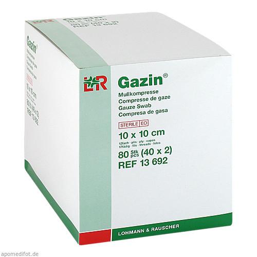 GAZIN Mullkompresse 10x10cm 12fach steril, 40X2 ST, Lohmann & Rauscher GmbH & Co. KG