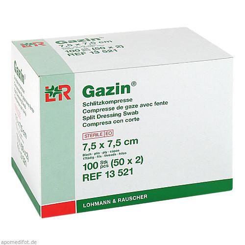 GAZIN Schlitzkompresse 7.5x7.5cm 8fach steril, 50X2 ST, Lohmann & Rauscher GmbH & Co. KG