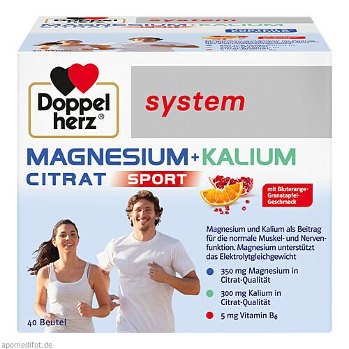Doppelherz Magnesium + Kalium Citrat system, 40 ST, Queisser Pharma GmbH & Co. KG