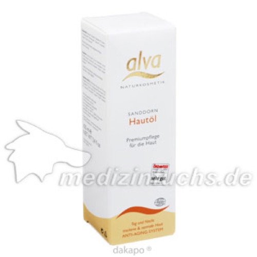 Sanddorn Hautöl alva, 100 ML, alva naturkosmetik GmbH & Co. KG