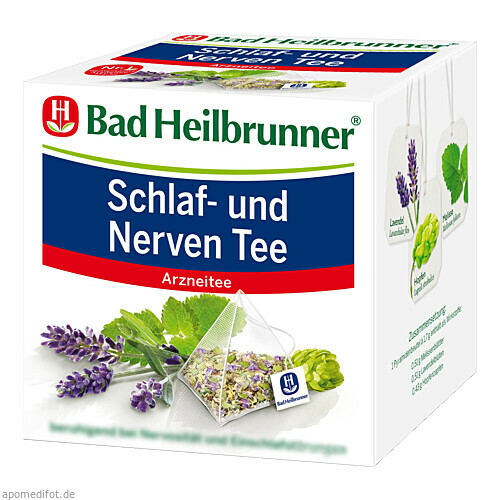 Bad Heilbrunner Schlaf- und Nerventee Pyramidenbtl, 15 ST, Bad Heilbrunner Naturheilm. GmbH & Co. KG