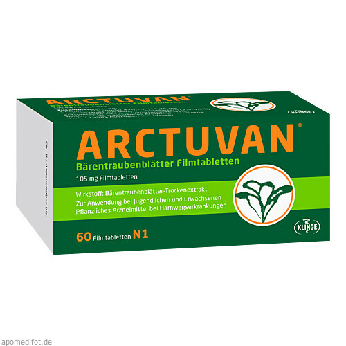 Arctuvan Bärentrauben, 60 ST, Klinge Pharma GmbH