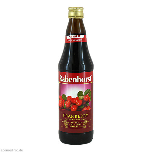 Rabenhorst Cranberry-Muttersaft, 700 ML, Haus Rabenhorst O. Lauffs GmbH & Co. KG