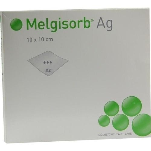 Melgisorb Ag 10x10cm, 10 ST, Mölnlycke Health Care GmbH