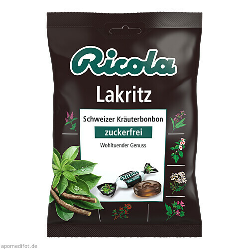 Ricola oZ Lakritz, 75 G, Queisser Pharma GmbH & Co. KG