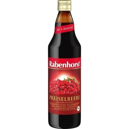Rabenhorst Preiselbeer-Muttersaft, 700 ML, Haus Rabenhorst O. Lauffs GmbH & Co. KG
