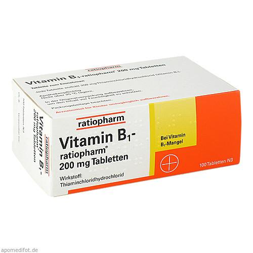 Vitamin-B1-ratiopharm 200mg Tabletten, 100 ST, ratiopharm GmbH