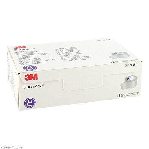 DURAPORE 9.10MX2.50CM, 12 ST, 3M Medica Zweigniederlassung der 3M Deutschland GmbH