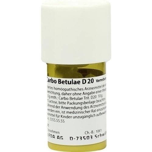 CARBO BETULAE D20, 20 G, Weleda AG