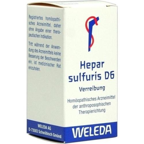 HEPAR SULF D 6, 20 G, Weleda AG
