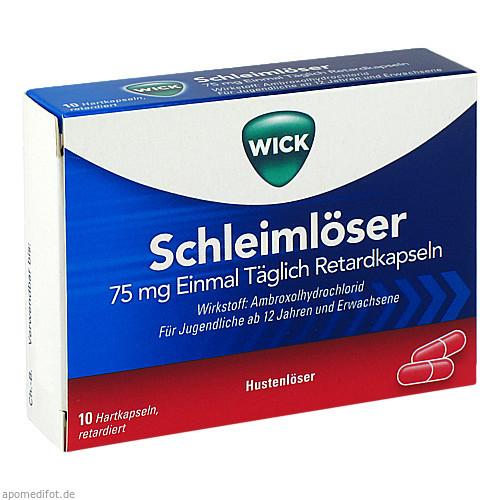 WICK Schleimlöser 75mg Einmal Täglich Retardkapsel, 10 ST, Procter & Gamble GmbH