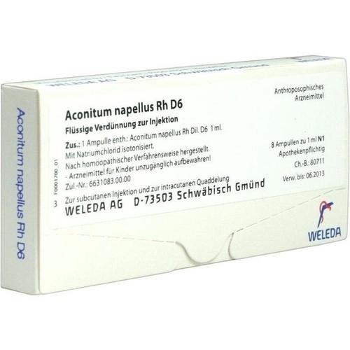 ACONITUM NAPELL RH D 6, 8X1 ML, Weleda AG