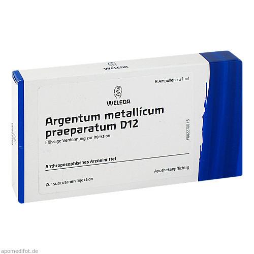 ARGENTUM MET PRAEP D12, 8 ST, Weleda AG