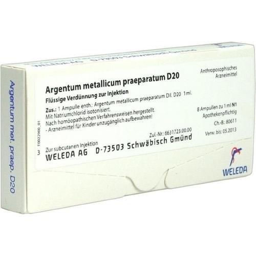 ARGENTUM MET PRAEP D20, 8 ST, Weleda AG