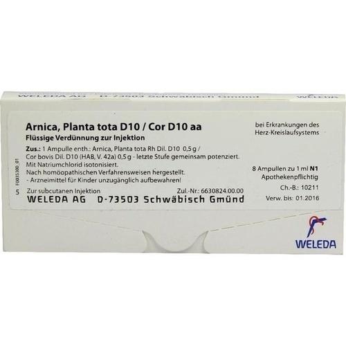 ARNICA PLANTA T D10 COR, 8X1 ML, Weleda AG