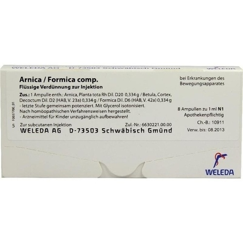 ARNICA FORMICA COMP, 8X1 ML, Weleda AG