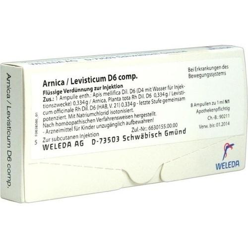 ARNICA LEVIST D 6 COMP, 8X1 ML, Weleda AG