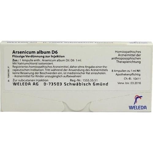 ARSENICUM ALBUM D 6 Ampullen, 8 ST, WELEDA AG