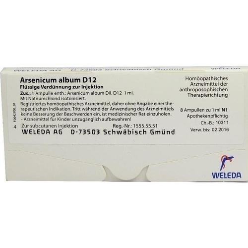 ARSENICUM ALBUM D 12 Ampullen, 8 ST, WELEDA AG
