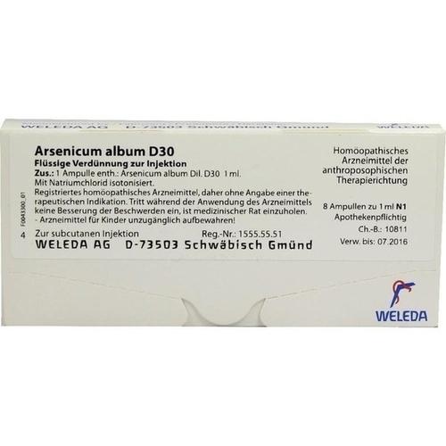 ARSENICUM ALB D30, 8 ST, Weleda AG