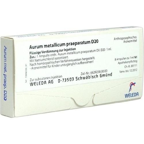 AURUM MET PRAEP D20, 8 ST, Weleda AG
