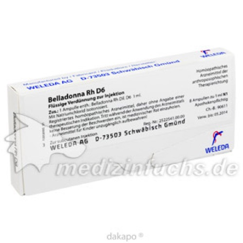 Belladonna Rh D 6, 8X1 ML, Weleda AG