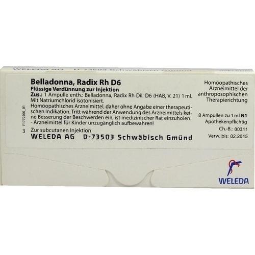 BELLADONNA RAD RH D 6, 8X1 ML, Weleda AG